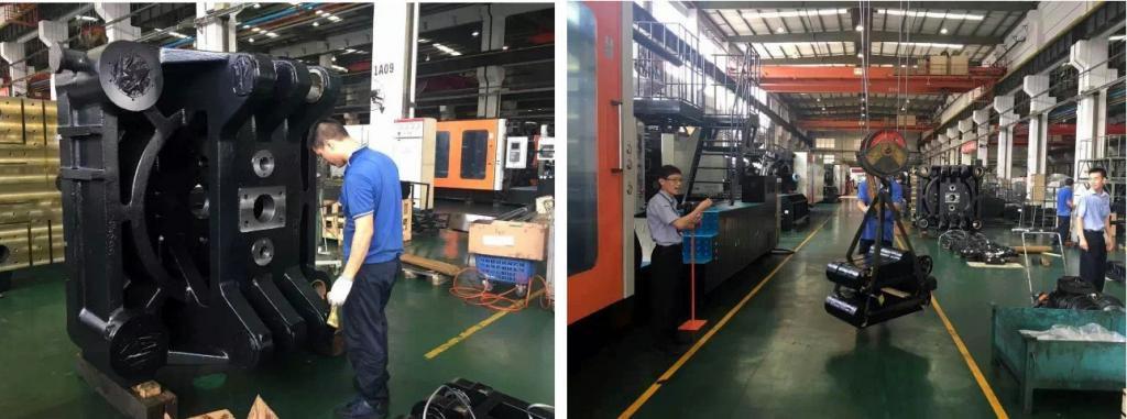 大机装配班组主要负责1200t-3000t大型注塑机装配,装配生产周期平均只需要15-18天即可完成,能快速的满足市场需求。